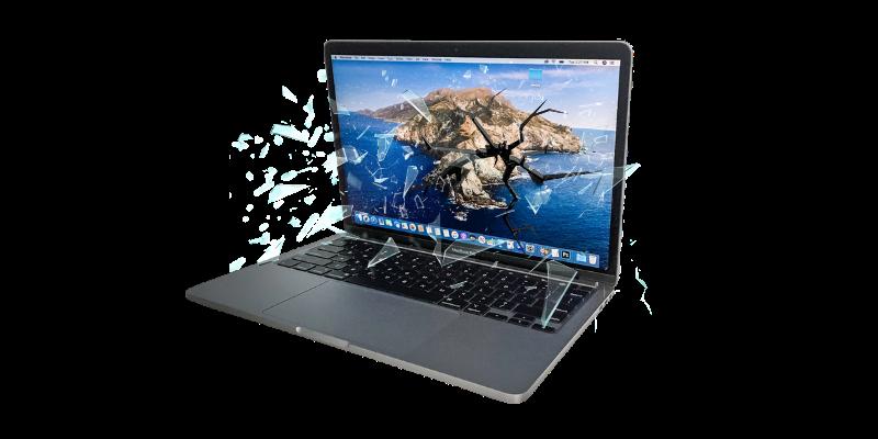 Same day macbook cracked screen repair